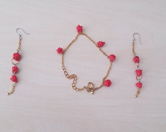 Jewelry set - Earrings & Bracelet (Homemade)
