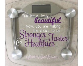 Scale Quote Vinyl Decal, New Years Resolution, Inspiration, fitness motivation, Body Positivity, Healthy living, Weight loss, Goals