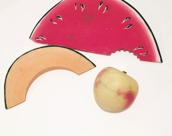 Handpainted Faux Fruit Set