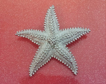 Silver Monet Big Starfish brooch