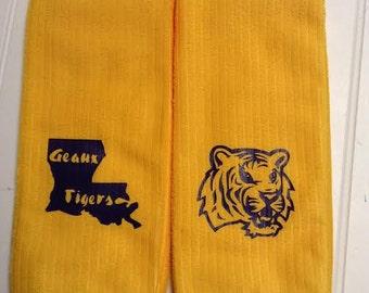 Ready To Ship LSU Kitchen Towels-Louisiana Kitchen Towels-Set of 4