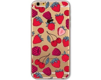 50% OFF !!! Strawberry - Iphone 6/6s - Phone Case - Berries - Fruit - Red