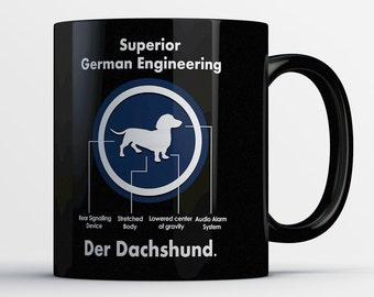Funny Dachshund Mug - Dachshund Coffee Mug - Coffee Cup - Weiner Dog Cup - Doxie Mug - Funny Dog Mug - Dachshund Gifts - Dog Lover Gift