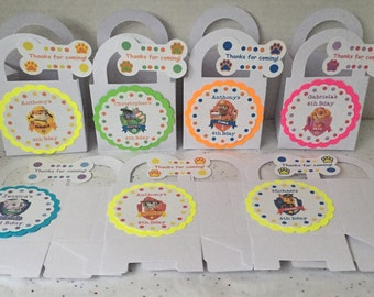 Paw Patrol Birthday Party Favor Boxes Bags Set of 12