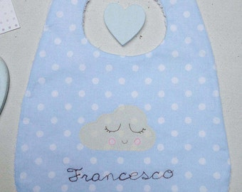 Baby bib with name