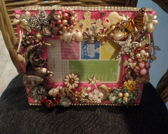 Pretty in Pink embellished picture frame