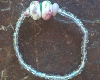 glass beaded stretchy bracelet - made to order
