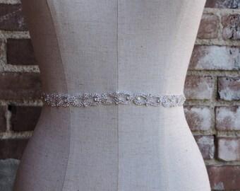 Rhinestone Belt-Bridal Belt-Bridesmaid Belt-Bridal Sash-Wedding Belt-Embellished Belt-Olivia