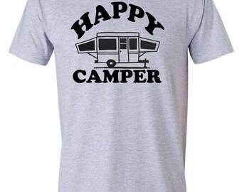HAPPY CAMPER T-shirt w. Pop-Up Camper