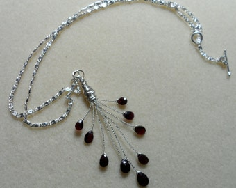 Pear Cut Rhodolite Garnet Necklace
