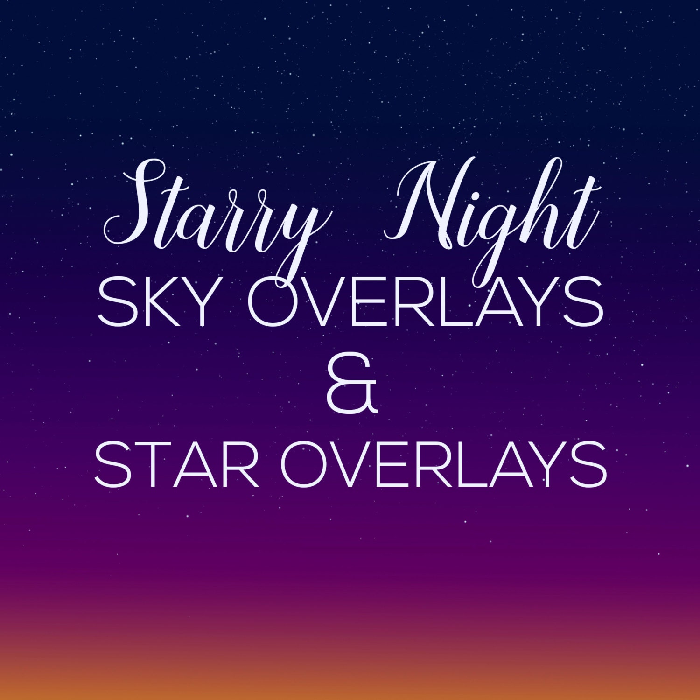 Night Sky Overlays, Star Overlays