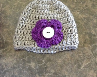 Baby flower hat
