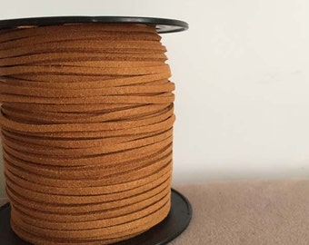 Faux Suede Leather Cord, Light  Brown Suede Cord, Faux Suede Cord, Suede cord necklace,string cord ,jewelry suede cord,10 meters,FAU-04