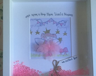Once upon a time there lived a princess personalised frame