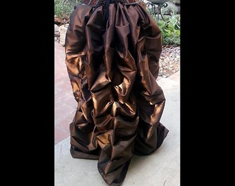 Ready to ship SKIRT ONLY Steampunk Victorian Taffeta Bustle Skirt Costume for Cosplay Halloween