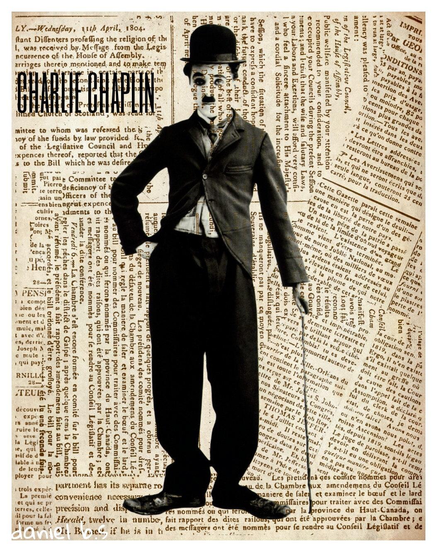 charlie chaplin poster pop art print original artist by ...