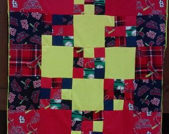 St. Louis Cardinals Fleece patchwork blanket