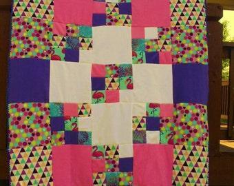 Fleece blanket patchwork