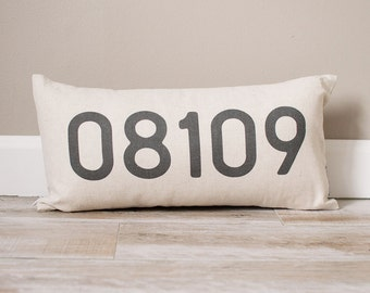 Personalized Zip Code Pillow | Personalized Pillow | Custom Gift | Monogrammed Gift | Rustic Home Decor | Home Decor | Farmhouse Decor