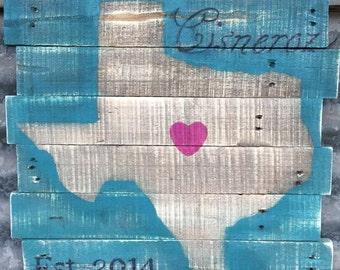 Custom Texas Sign