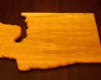 Washington State Shaped Cutting Board - Cherry