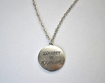 Winter Is Coming Game Of Thrones Necklace Double Sided