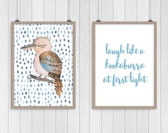 Kookaburra Nursery Print