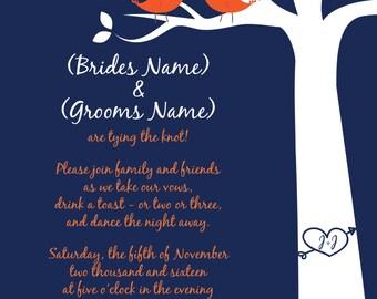 Wedding Invitation - Love Birds