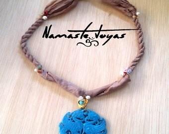 Namaste necklace jade - Necklace Namaste