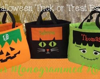 Halloween Sale. Personalized Halloween Tote Bags. Personalize Halloween Bag. Monogrammed Halloween Bag.