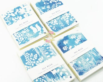 Blue Print Animal Journal Set