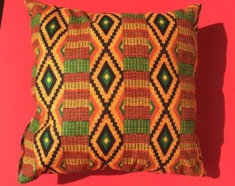 Kente cloth Pillow