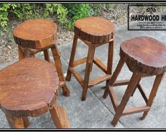 Hardwood Log Stools