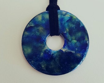 Speckled Sea (small pendant necklace)