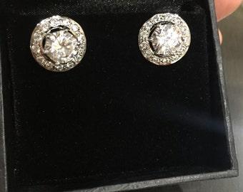 Solitare earrings