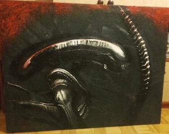 ALIEN - oil painting - big!
