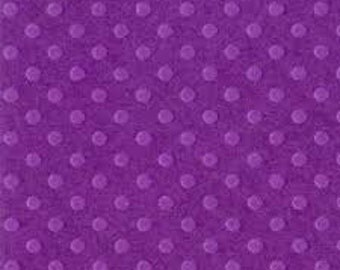 Bazzill Dotted Swiss 12 x 12 Cardstock, Plum Pudding