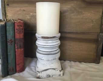 "6"" Handmade Rustic Candle Holder"
