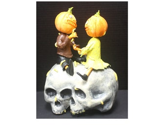 Siamese Twin Skull Candy Container