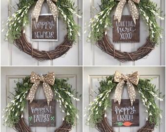 Seasonal Sayings (Set of 12 inserts for wreaths)