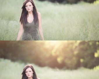 60 Sun overlays, Natural light overlays,Natural Sun Light Photoshop Overlays