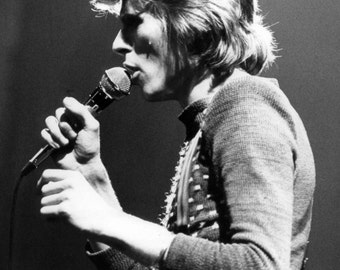 David Bowie Legendary Singer Musician Art Black and White  Photo Print
