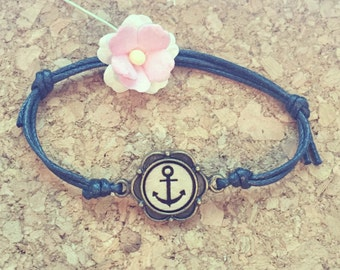 Anchor bracelet wood type, anchor, keeper, Globetrotter, travel, travelling, sea, maritim