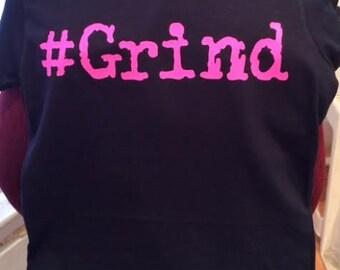 Female Black T shirt Pink #GRIND