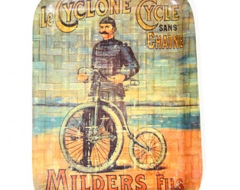 75% off last chance-Milders Fils tray-Vintage serve-le cyclone cycle sans chaine