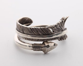 Arrow Ring | Arrow Jewelry | 925 Sterling Silver Tribal Ring | Indian Inspired Ring | Silver Arrow Rings for Men and Women | Adjustable Ring