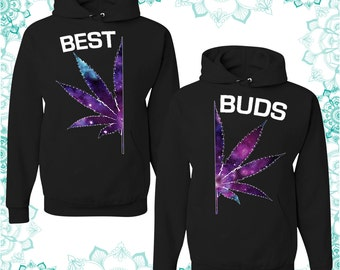 Best Buds - best couples hoodies - unisex hoodies - gift for her and for him - couples apparels
