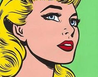 I will draw a POP art portrait