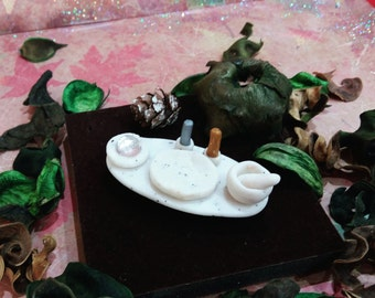 Miniature Wiccan Altar Set - polymer clay - Magick Witch