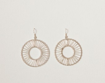 Silver Wrapped Hoops